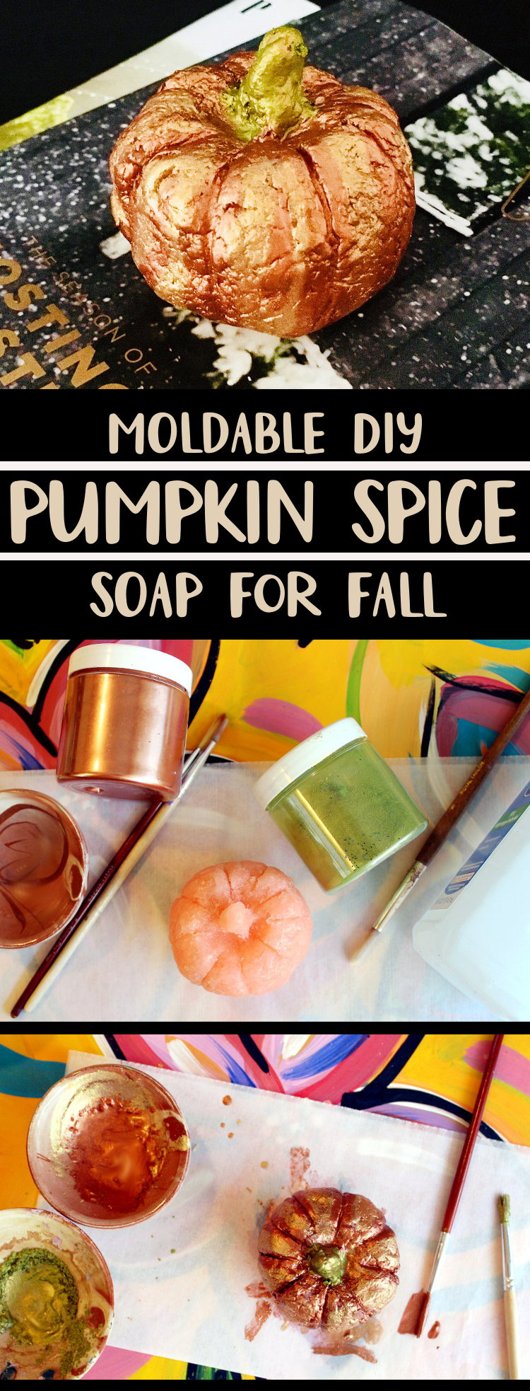 DIY Pumpkin Spice Soap that You Can Mold! A Fun Weekend DIY Project for All Ages. This DIY pumpkin spice soap makes a fun weekend craft project for both kids and adults! Made with a super easy moldable melt and pour soap recipe, these pumpkin spice soaps are also great for gifting.