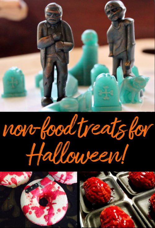 Non-Food Halloween Treats that will WOW your teens! Gifting your teen, or even your own friends and coworkers, these non-food Halloween treats can infuse some of the fun back into this spook-tacular holiday. And perhaps remind them to carve out a little time out for themselves devoid of technology and the drama of school life. Following you'll find the perfect creepy collection of handmade bath and body Halloween treats to haunt your bathroom this Halloween.