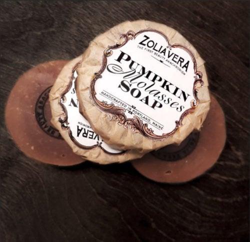Pumpkin Molasses Soap for fall from Zolia Vera