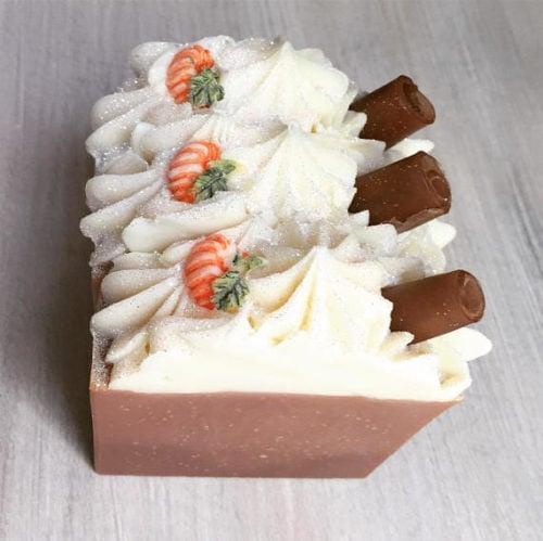 Homemade Pumpkin Spice Soap for fall handmade by Rainy Daze Naturals