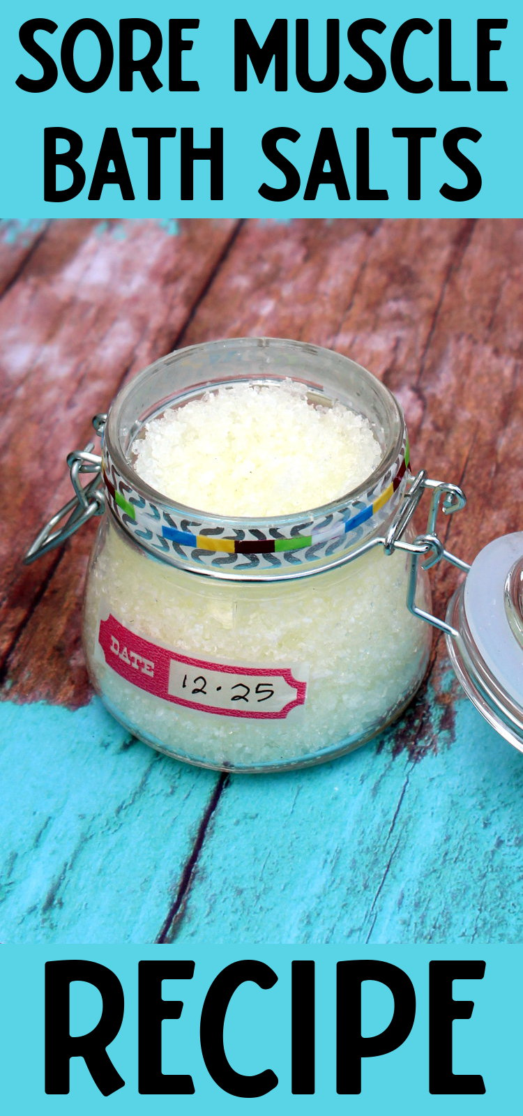 Pain Relief Bath Salts Recipe! Don't let sore muscles slow you down this busy holiday season! Enjoy a nice long soak in these pain relief bath salts instead. (And sneak in some quiet time away from the kids and the hustle and bustle of the holidays.) #diy #recipe #bathsalts #painrelief #homeremedies #natural