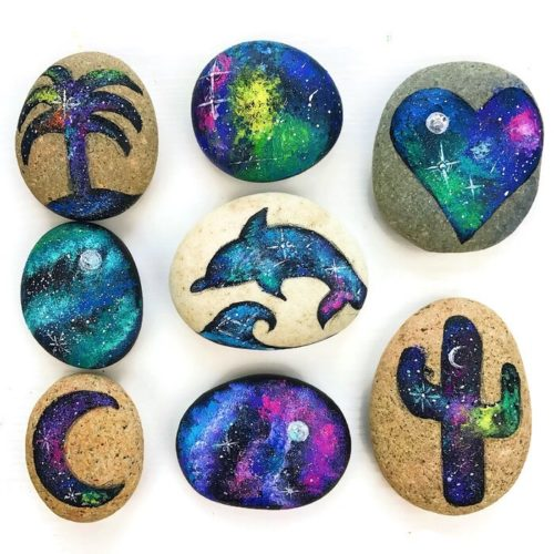 "Kids Craft Projects! Kids will have a blast painting these DIY galaxy rocks via Color Made Happy Blog! Plus more DIY kids crafts projects to keep the kids occupied so you can enjoy some ""me"" time!"