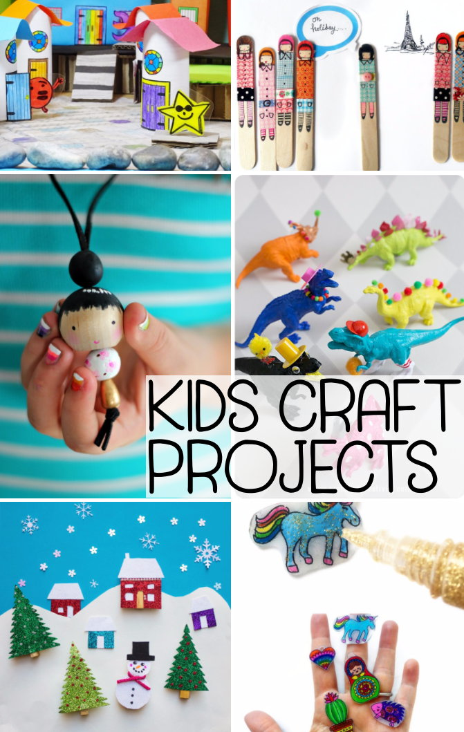 DIY Kids Crafts Projects! Are your kids driving you crazy? Retreat into some quiet time for yourself with this collection of DIY kids craft projects for when you've hit your limit! (Plus a rockin' printable chore chart!)
