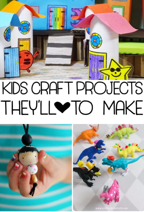 Are your kids driving you crazy? Retreat into some quiet time for yourself with this collection of 12 DIY kids craft projects for when you've hit your limit! (Plus a rockin' printable chore chart with a rewards system for crafty prizes!)
