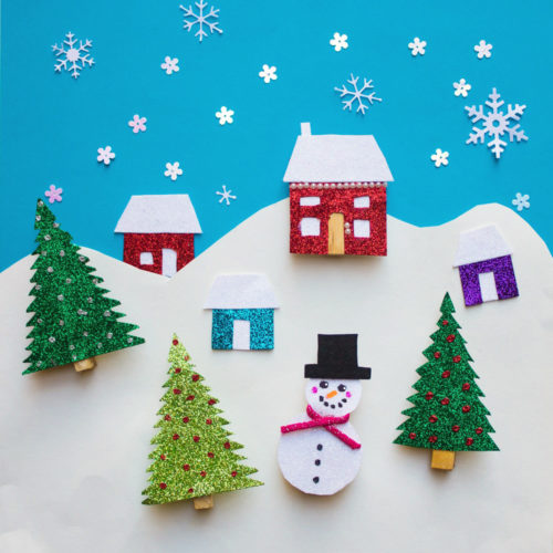 "Get your kids to make these fun and functional DIY winter magnet clips via hello, Wonderful! When not keeping chips and cereal bags closed they can be used to create fun scenes on the fridge for imaginative playtime. Plus more DIY kids crafts projects to keep the kids occupied so you can enjoy some ""me"" time!"