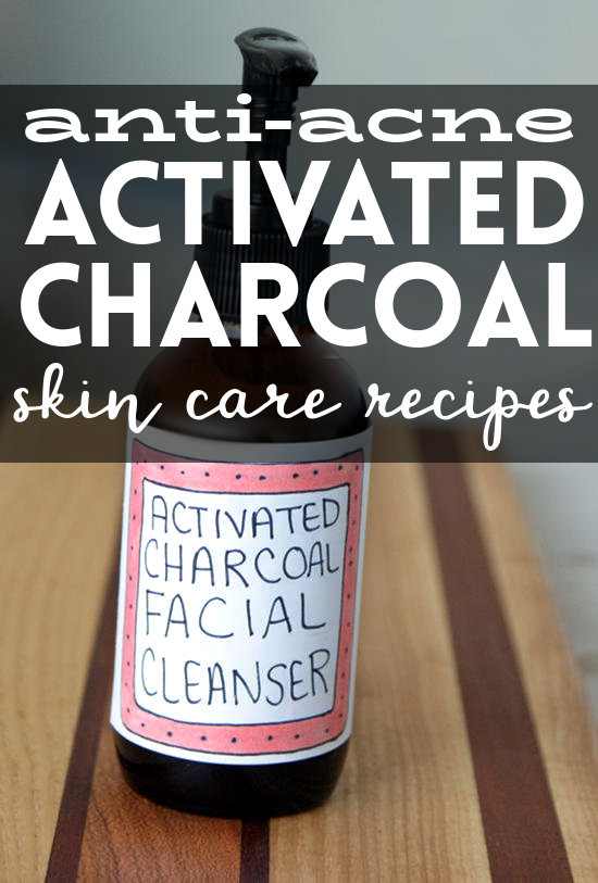 Anti-Acne Activated Charcoal Skin Care Recipes! If you've ever struggled with acne, then these activated charcoal skin care recipes are a must for your next weekend DIY! From homemade soaps to facial scrubs, these natural activated charcoal skin care recipes will help to prevent troublesome acne so you can worry more about what's for dinner and less about your next facial explosion.