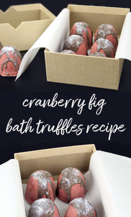 Cranberry Fig Bath Truffles & Holiday Gift Idea! This cranberry fig bath truffles recipe makes a lovely seasonal gift idea that's sure to give you a new appreciation for this tiny tart fruit! Plus discover some of my favorite food recipes for using cranberries when cooking and baking! #diy #cranberry #holidays #gifts #bathtruffles #giftideas #christmas #christmasgifts #holidaygifts #recipes