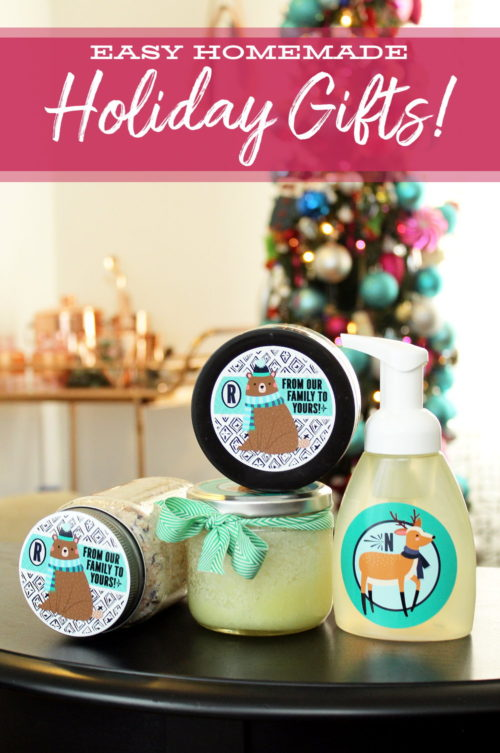 Easy Homemade Christmas Gifts.Easy Homemade Holiday Gifts With Personalized Sticker Labels
