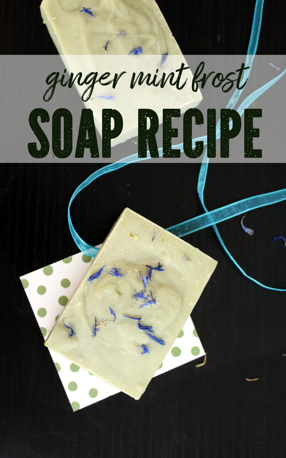 Ginger Mint Soap Recipe! This homemade ginger mint soap recipe is a wonderful skin care option for caring for and nourishing dry skin! Made with gentle ingredients that include cocoa butter, olive oil and black cumin seed oil, this ginger mint soap is a year round delight for anyone in need of a gentle cleanser to soothe irritated or dry skin.#soap #soapmaking #skincare #soaprecipe #blackcuminseedoil #oliveoil #beauty #dryskin #dryskinremedy #gentlecleanser #cleanser #diy #crafts