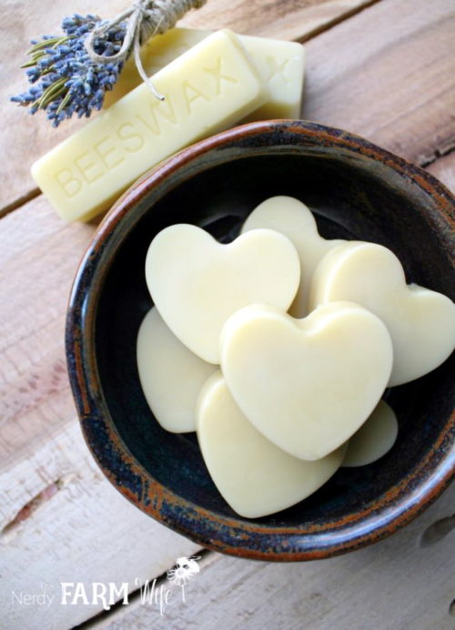 These DIY herbal massage melts via The Nerdy Farm Wife make delightful DIY Valentine's Day gifts for your active Valentine, that enjoys hard work, but needs a little extra pampering at the end of the day.