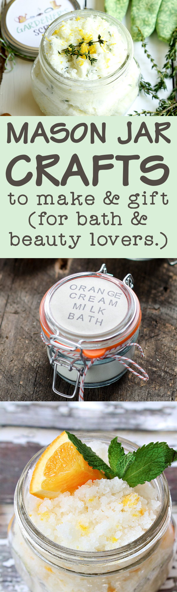 Mason Jar Crafts for Bath & Beauty Lovers! Try one of these 40+ beautiful mason jar crafts for bath & beauty lovers for a fun weekend project the entire family can enjoy! Or make them for last minute DIY gift ideas for friends and family! #masonjarcrafts #bath #beauty #diy #crafts #gifts #giftideas