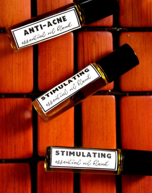 Stimulating Essential Oil Blend & Anti-Acne Essential Oil Blend Recipes for Roller Balls!