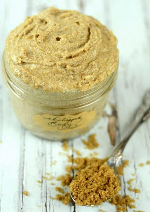 Best Whipped Sugar Scrubs to Buy or DIY! Moisturizing Vanilla Whipped Sugar Scrub via Wildly Organic! You can craft this simple whipped sugar scrub recipe with organic coconut sugar, shea butter, avocado and coconut oil using products from Wildly Organic in just 5 minutes!