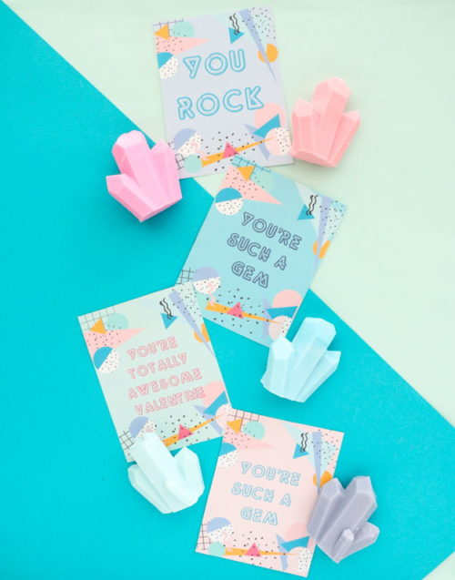 Your Galentine will go ga-ga over these super cute DIY gem soap Valentine's via A Kailo Chic Life! These make super cute homemade Valentine ideas for coworkers and friends. Just craft and create the easy melt and pour gem soaps then pair them with one of the free printable Valentine's Day cards. #valentines #valentinesdaygift #soap #gem #galentines #diy