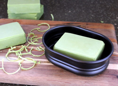 Aloe Vera Soap Recipe with Neem Oil! If you commonly turn to aloe vera to soothe and moisturize your skin, then add this soap recipe to your weekend to do list now! Formulated using natural ingredients, my cold process aloe vera soap recipe uses aloe vera gel in place of the water for its natural skin care properties. #aloevera #soap #soapmaking #soaprecipe #palmfree #vegan #diy #crafts #neemoil