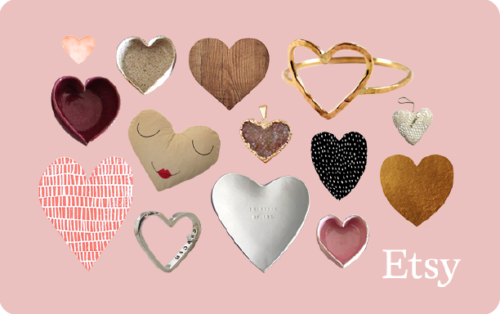 Last Minute Valentine's Day Gifts! Handmade IS better! So why not give the gift of handmade this Valentine's Day with a gift certificate to Etsy! A global marketplace for unique and creative goods, Etsy is home to a universe of special, extraordinary items, from unique handcrafted pieces to vintage treasures.