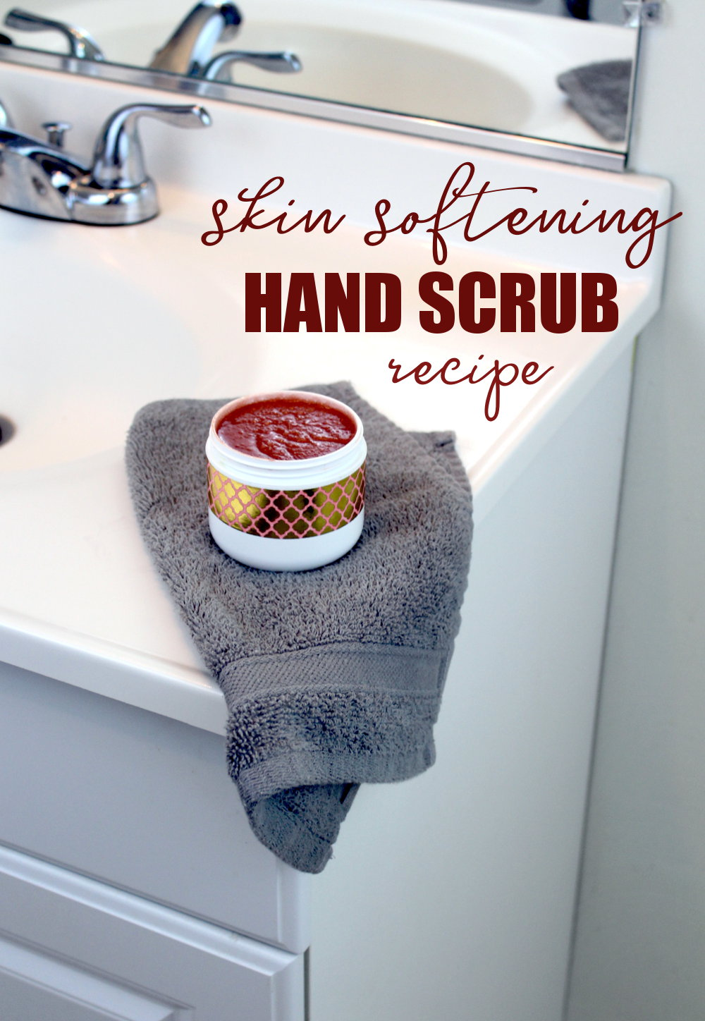 DIY Skin Softening Hand Scrub! If you hand soap is drying out your skin from repeated washing try something different! Take charge of your skin's health with this rose scented skin softening hand scrub recipe! Formulated with tamanu oil and other skin nourishing ingredients, your hands will be back to better health in no time!