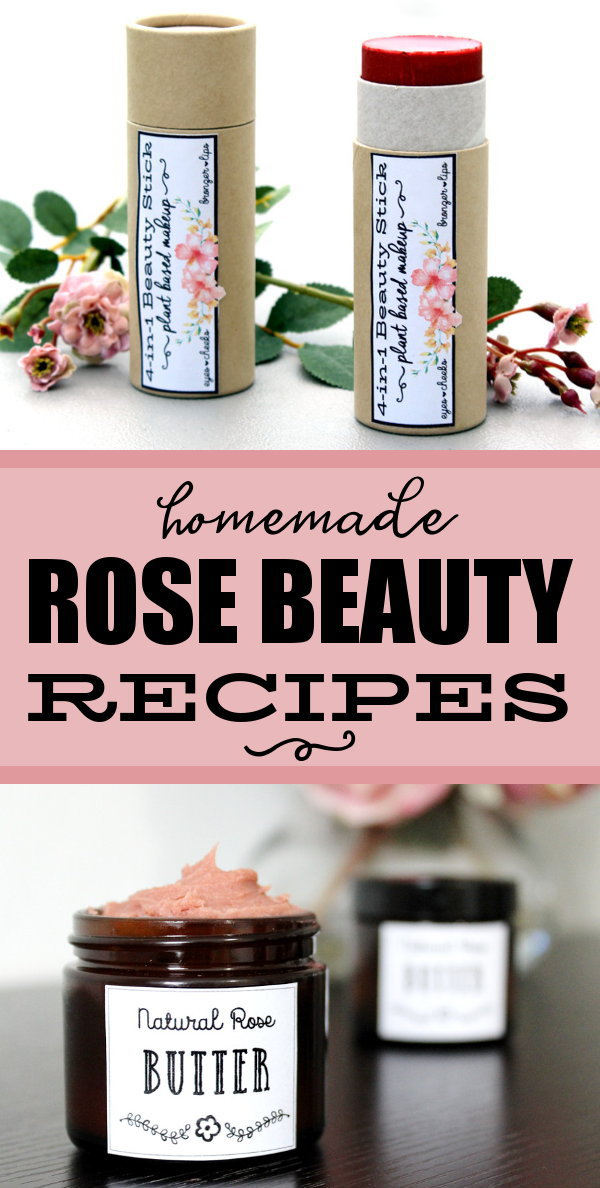 Rose Skin Care Recipes for Natural Beauty & Gifts! If roses are one of your favorite flowers, then you don't want to miss this stunning collection of rose skin care recipes that you can make and gift! These beautiful rose beauty recipes are a must have for your next DIY project! Each carefully formulated recipe begins with plant based ingredients then adds a touch of creative spirit for some of the best rose skin care recipes for your skin! #roses #skincare #beauty