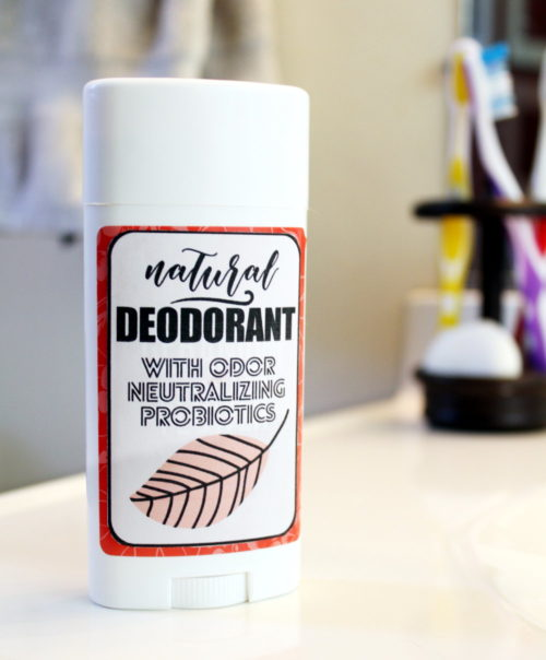Sensitive Skin Deodorant Recipe with Natural Probiotics! If you've been on the fence about switching to a natural deodorant, then you must try this sensitive skin deodorant recipe! Free of irritating baking soda, this all natural deodorant works hard at fighting odors without leaving you with an angry red rash. #deodorant #diy #health #natural #skincare