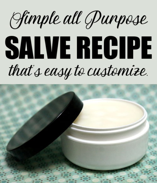 Learn how to make your own custom salve recipe! Whether you want to test the waters by making a simple salve or want to learn how to create your own custom salve recipes, my all purpose salve recipe is a great springing board for developing your own herbal salve recipes. Plus more of the best herbal salve recipes for every ailment!