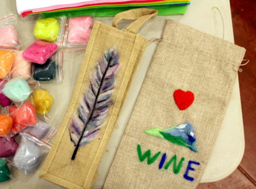 DIY Needle Felted Wine Bag for Mother's Day! You don't have to take a course in needle felting for beginners to create your own needle felted projects. It's actually a lot easier to get started than you might think. Learn how you can get started in needle felting with this easy DIY needle felted wine bag that's perfect for Mother's Day!