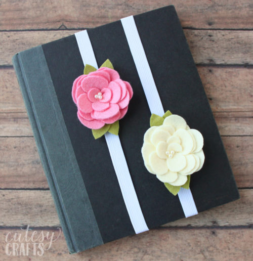 Best DIY Mother's Day Gifts That Mom Will Love! Craft these DIY felt flower bookmarks with this tutorial from Cutesy Crafts for Mother's Day and gift them with a journal or book written by your mom's favorite author!