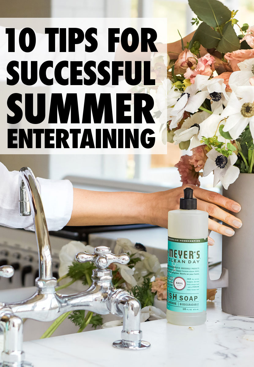 Top ten tips for successful summer entertaining! If you're as excited about getting into the swing of summer entertaining as we are, check out these great tips for opening your kitchen, and the rest of your home, to guests this summer. Plus the best pet friendly, non-toxic cleaning products for cleaning your home!