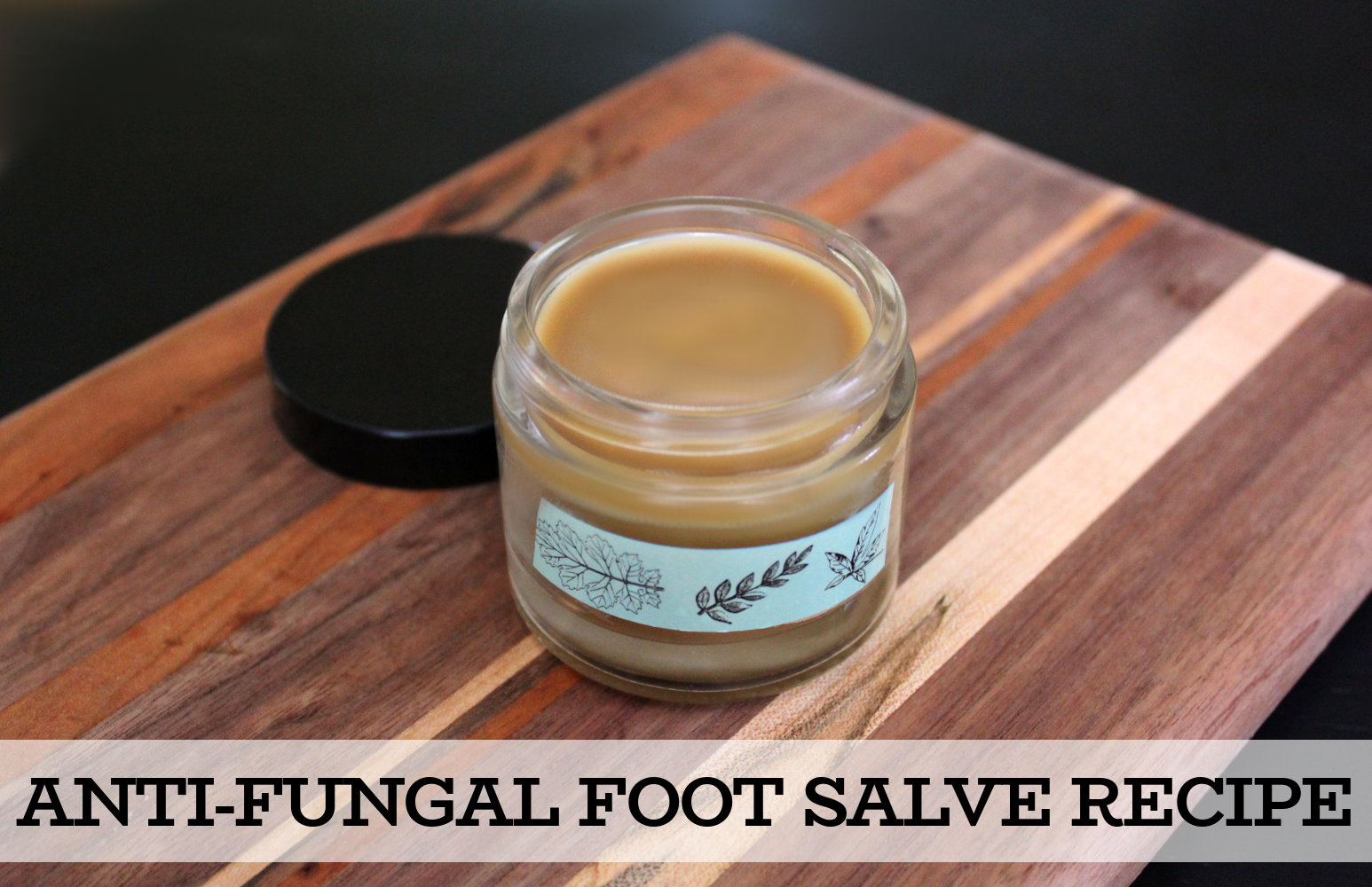 Antifungal Foot Salve Recipe - a natural holistic home remedy for athlete's foot, toenail fungus and candida with key ingredients like an anti-fungal essential oil, neem oil and coconut oil. This natural anti-fungal foot salve recipe is a great way to naturally promote skin health. Used daily it can help to treat fungal foot infections as well as prevent their reoccurrence. #antifungal