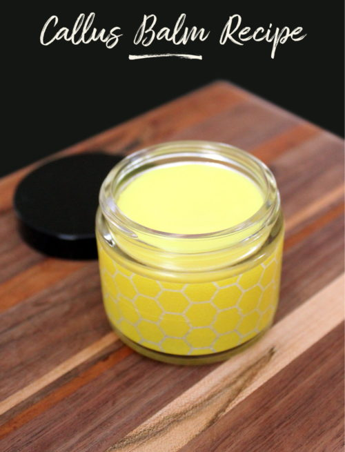 Homemade Callus Balm Recipe. Natural herbal salves and balms recipe. If you've ever used a foot peeling mask, then you'll appreciate this homemade beauty recipe. Avoid the trauma of peeling feet and whip up this natural homemade callus treatment instead! It's naturally formulated with herbs and essential oils to promote skin health and soften tough calluses for healthy looking feet.