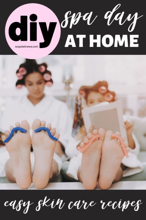 How to have a spa day at home. Easy holistic DIY beauty and skin care recipes for a spa day at home. The perfect answer to self care during times of stress. You don't have to spend a fortune to enjoy luxury skin care and natural beauty products. Instead you can make your own easy holistic beauty and skin care recipes for a spa day at home! 60 natural beauty and skin care recipes that are easy to make, for the perfect clean beauty products to enjoy during your spa day at home. #spaday #homespa