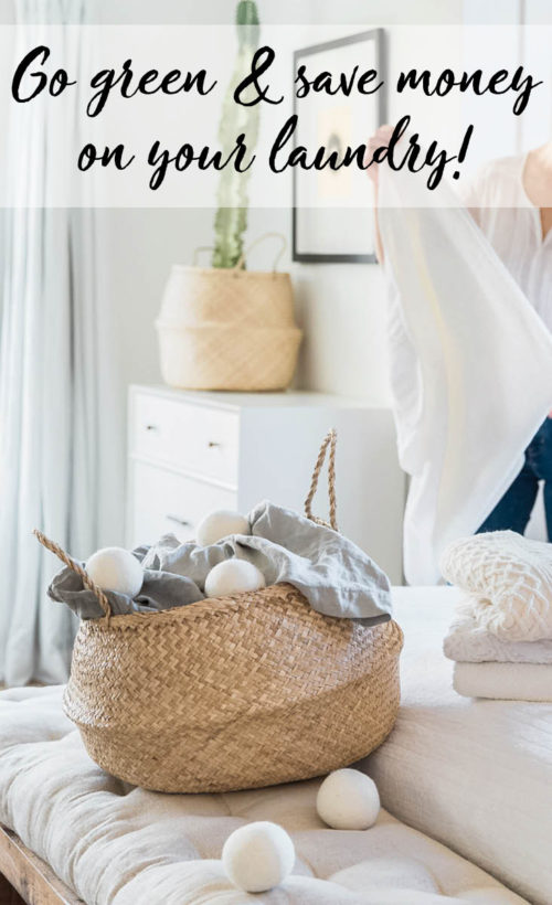 Frugal Laundry Tips to Help You Save Money & Go Green! Plus learn how to make your own 3-ingredient natural linen spray. Cheap synthetic and highly fragranced detergents & fabric softeners can irritate sensitive skin. But you can make the switch to naturally derived laundry products all while saving money and going green! Discover my favorite frugal laundry tips. Plus how to get my favorite green laundry solution absolutely free!