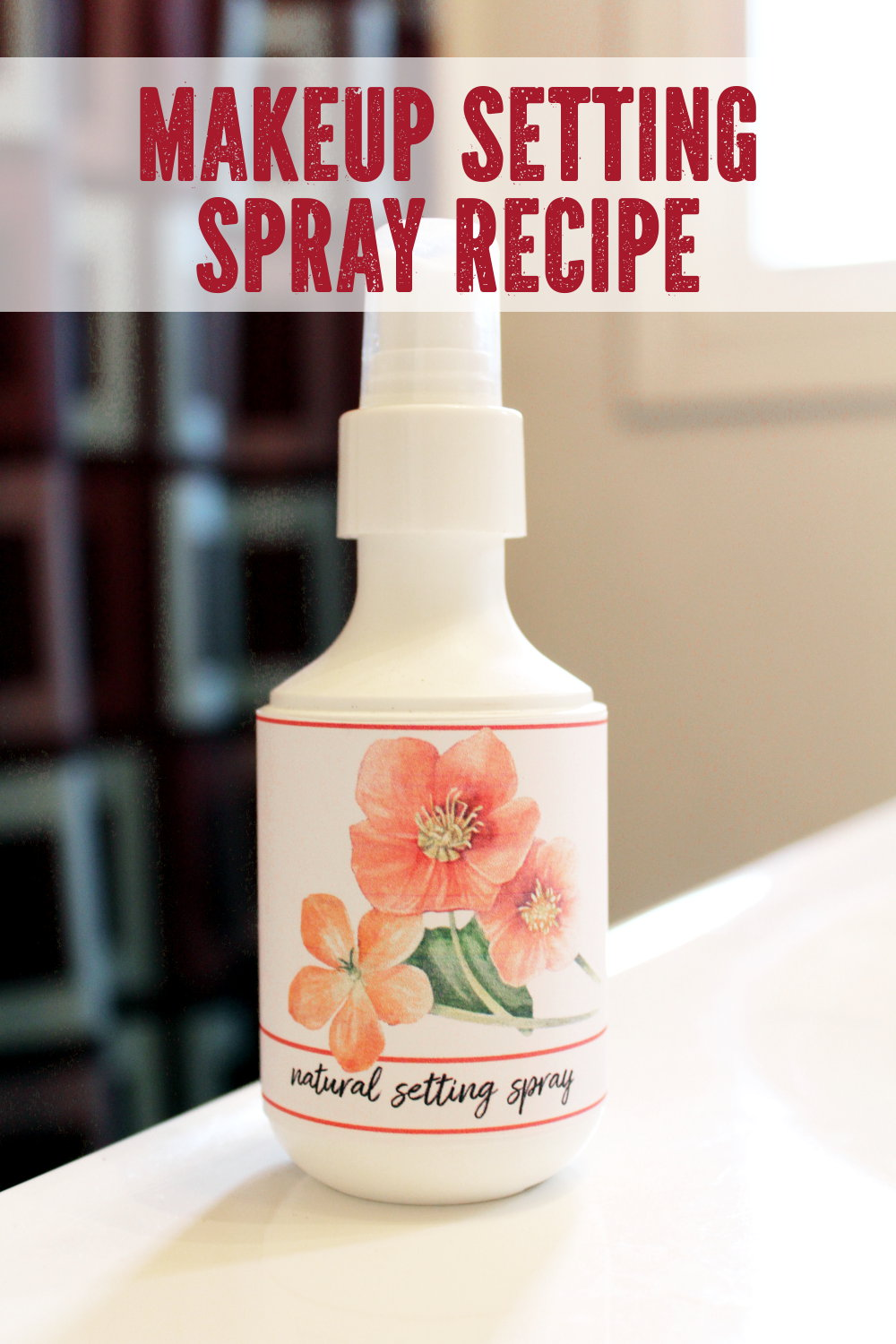 All Natural Makeup Setting Spray DIY. This natural makeup setting spray recipe is more than just a makeup setting spray. It's also a multi-purpose product that doubles as a skin hydrating spray. So it's not only perfect for keeping your makeup in place all summer long. It also hydrates parched skin and soothes summer sunburns.