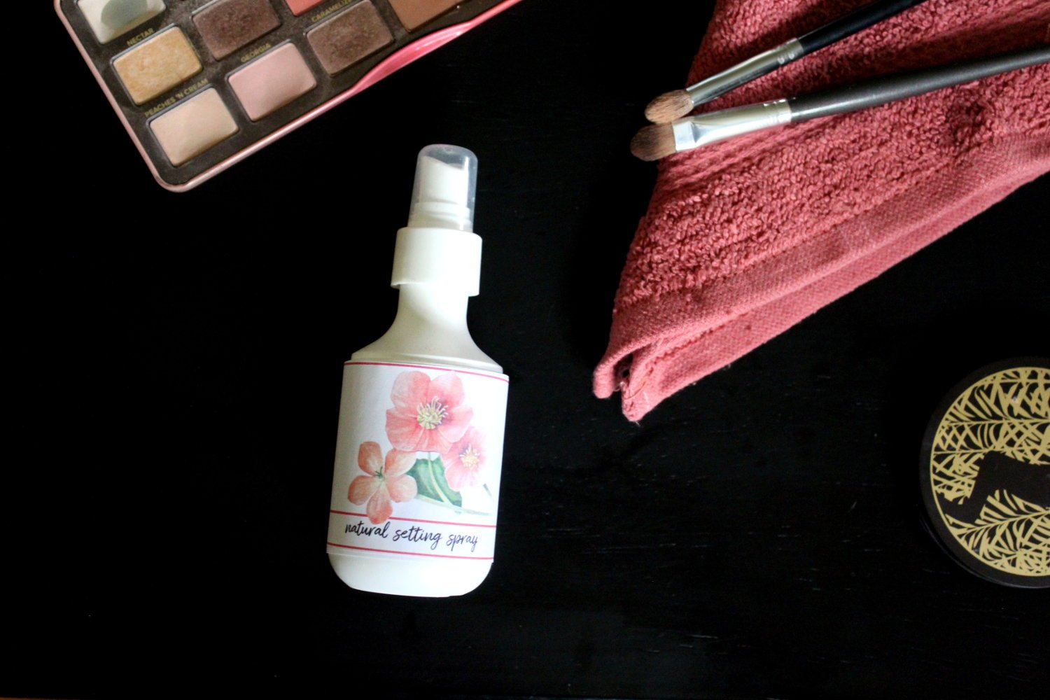 All Natural Makeup Setting Spray DIY. This natural makeup setting spray is more than just a makeup setting spray. It's also a multi-purpose product that doubles as a skin hydrating spray that soothes and hydrates skin. So it's not only perfect for keeping your makeup in place all summer long. It also hydrates parched skin and soothes summer sunburns.