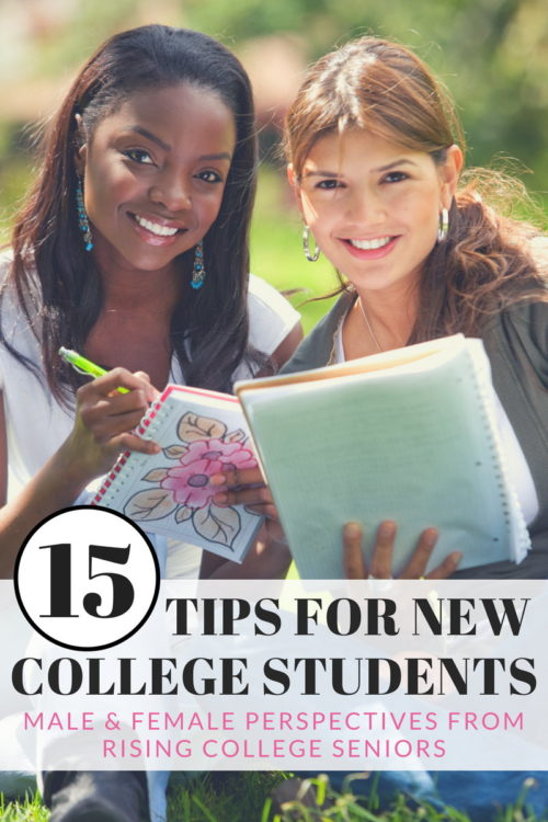 15 Tips for New College Students to Ease the Transition into College Life from both a male and a female perspective from rising college seniors. Plus the best back to school supplies for your new college student.