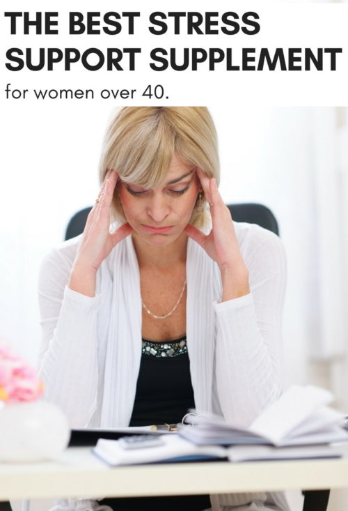 The Must Have Stress Support Supplement for Women Over 40. This natural, herbal stress support supplement is a must for women over 40. Not only does it tame the physical and emotional changes your body experiences during perimenopause, but it helps improve your body's response to stress and boosts immunity for overall wellness.