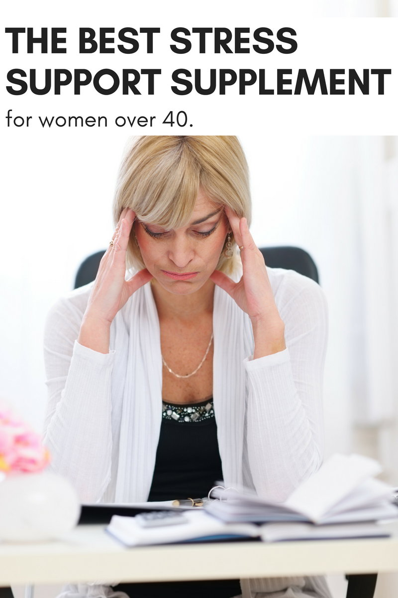 The Must Have Stress Support Supplement for Women Over 40! This natural, herbal stress support supplement is a must for women over 40. Not only does it tame the physical and emotional changes your body experiences during perimenopause, but it helps improve your body's response to stress and boosts immunity for overall wellness.