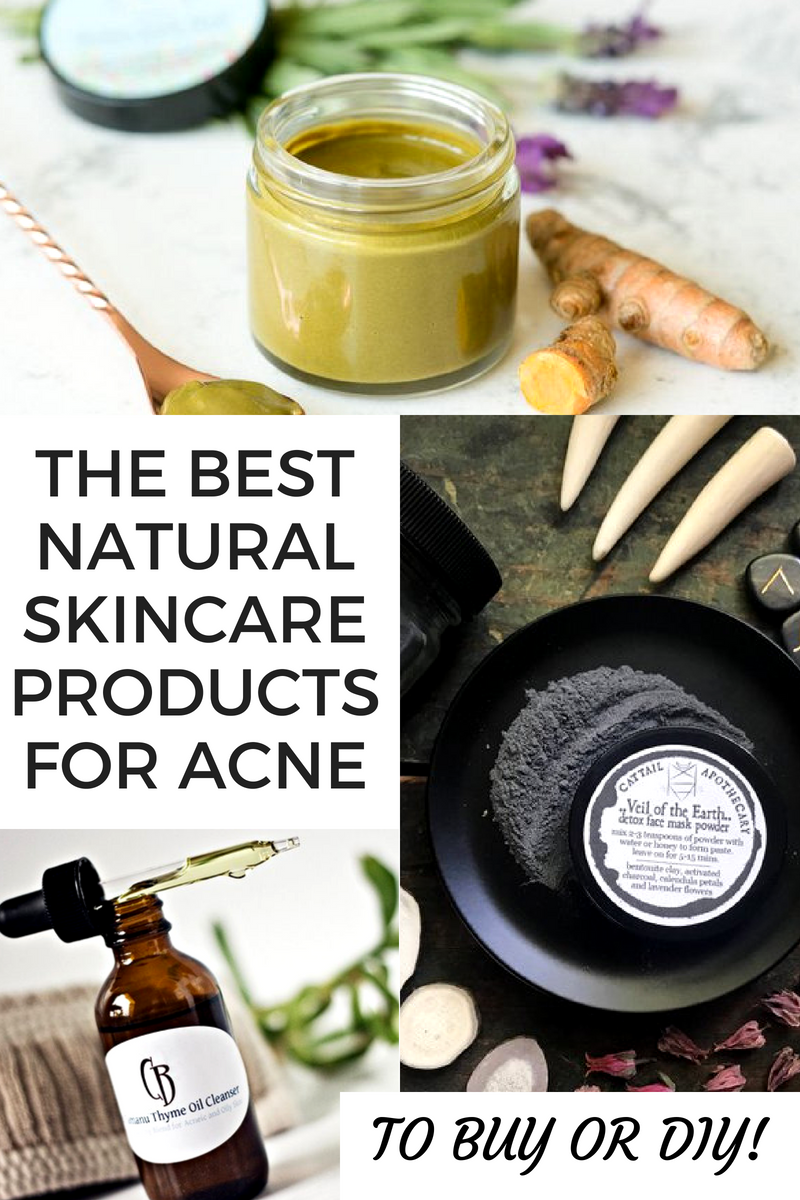 Best natural skin care products for acne prone skin that you can buy or DIY! You'll love this collection of the best natural skin care products for acne prone skin. Whether you choose to buy or DIY your own anti-acne skin care treatments, these natural skin care products treat & prevent acne as well as calm and soothe skin inflammation!