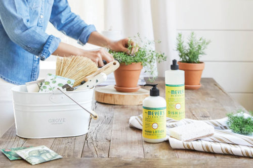 Clever Ways to Repurpose Your Cleaning Caddy. Repurpose your cleaning caddy into a mini herb or succulent garden. Add a few inches of gravel or pebbles for drainage, then a layer of potting soil, and your plants. The handle makes it easy to carry your plants to the sink for watering!