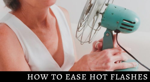 How to Ease Hot Flashes Due to Perimenopause or Menopause. Plus the best stress support supplement for women over 40.