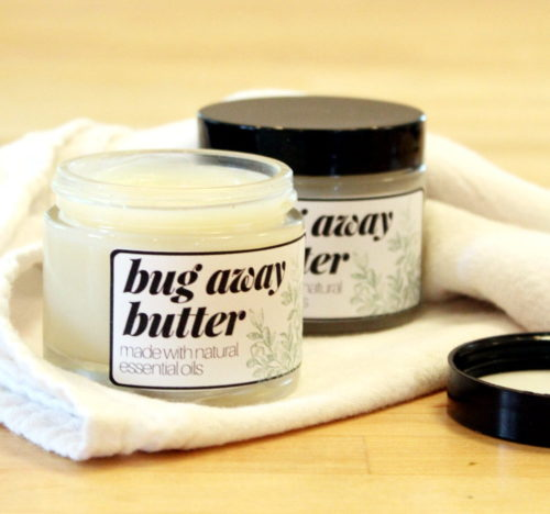 Don't let bugs ruin your summer fun! Repel mosquitoes and deer ticks with this non-greasy insect repellent body butter recipe made with natural essential oils! This insect repellent body butter is crafted with a blend of natural essential oils including lemon eucalyptus essential oil which has been shown to not only repel biting insects, but deer ticks as well.