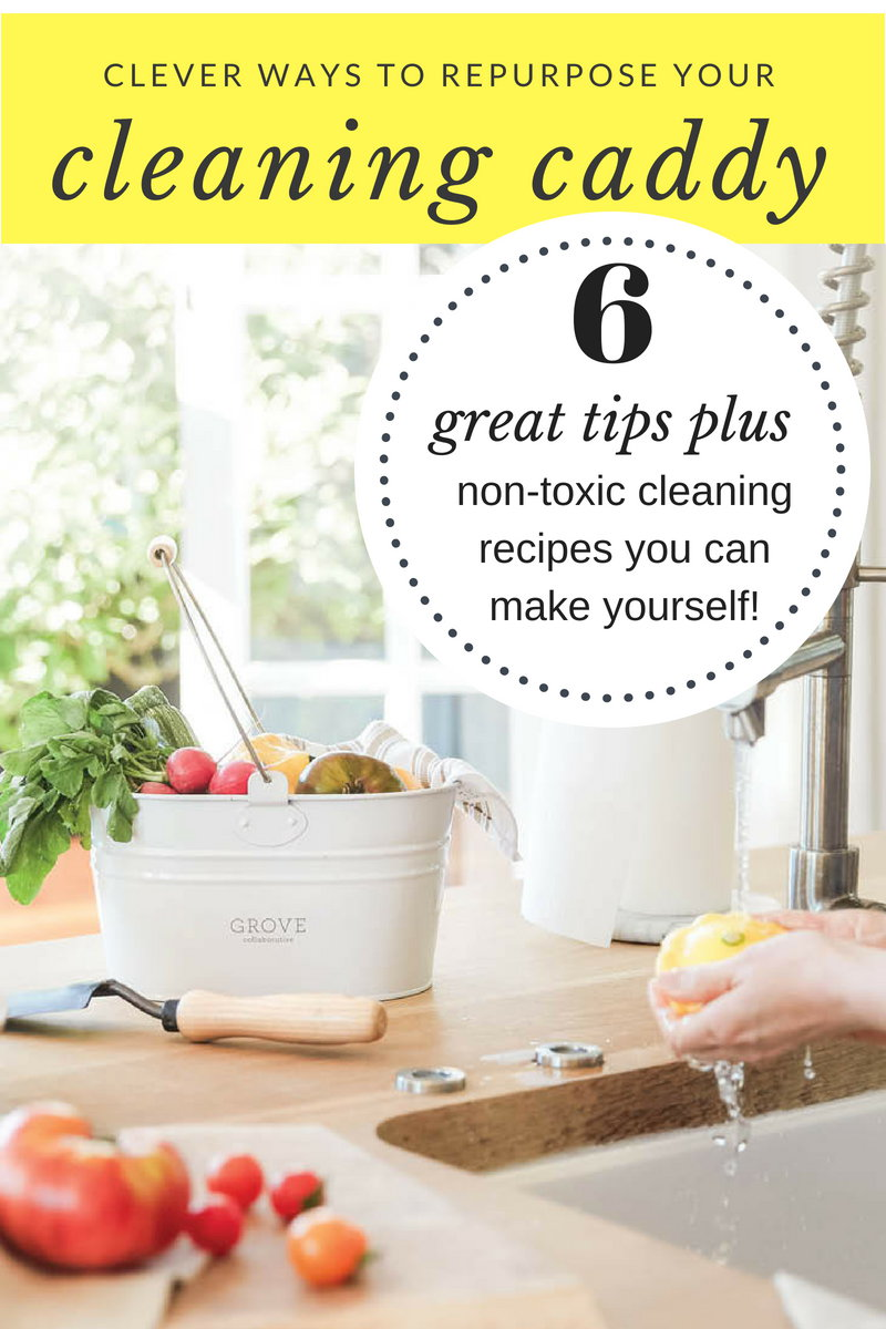 Clever Ways to Repurpose Your Cleaning Caddy (Plus 5 Non-Toxic DIY Cleaners to Make Right Now!) If you struggle to stay organized, then check out this collection of clever ways to repurpose your cleaning caddy. Plus learn how to make your own non-toxic cleaners for your home this summer.