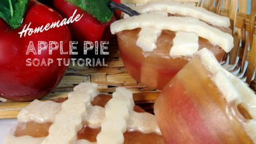 Homemade Apple Pie Soap Tutorial for Fall Gifts. Learn how to craft your own melt and pour soaps for seasonal fall gifts with this instructional homemade apple pie soap tutorial.