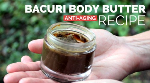 This natural bacuri body butter recipe is the best and only body butter recipe you'll ever need! Formulated to moisturize and nourish dry and maturing skin, this non-greasy bacuri body butter recipe is crafted using three simple ingredients from the Brazilian Amazon forest that possess unique anti-aging skin care properties. So skin looks and feels younger with every use.