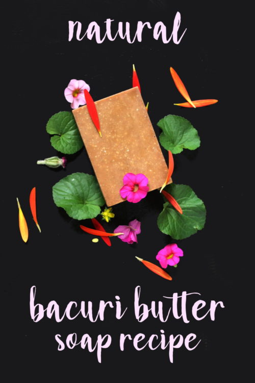 Natural Handmade Bacuri Butter & Murumuru Soap Recipe. This natural bacuri butter & murumuru soap recipe is the perfect soapmaking project for exploring new ways to use exotic ingredients in natural skin care recipes. Left unscented to allow the warm, natural earthy scent of bacuri butter to shine through, this handmade soap recipe is another must for your recipe file!