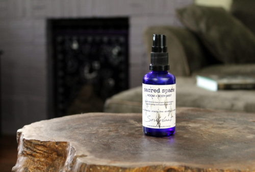 Sacred Space Room & Body Mist from Soulplant Apothecary. This is a truly sacred blend of purifying essential oils and mindfully chosen floral waters. It helps dispense stagnant energy in your space and/or aura.