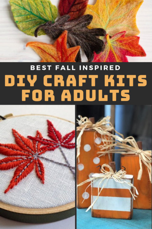 Best DIY Craft Kits for Adults to Try This Fall. Take the time out to do something special for yourself this fall by learning a new craft. This collection of DIY craft kits for adults is just what you need to get started!