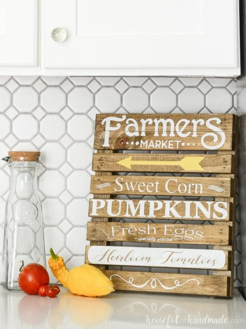 8 Best DIY Adult Craft Kits for Fall. Small DIY Farmers Market Sign Craft Kit. Build the perfect fall decor for your home with this adult DIY craft kit. This beautiful DIY farmers market sign celebrates the best parts of fall and will look wonderful in your kitchen this season.