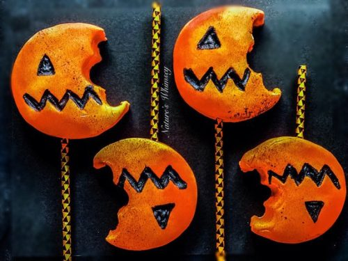 Favorite Handmade Halloween Bath & Body Products. Trick-or-Treat Time. These creative handmade bubble bars from Nature's Whimsey look like seasonal pumpkin lollipops - that someone already got into! Each one is scented in a yummy country apple scent perfect for fall.