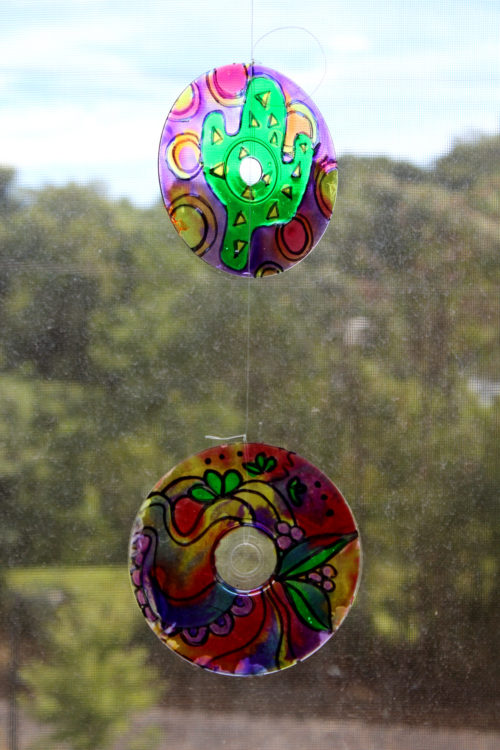 DIY Suncatcher Craft Project for Every Season. Bring a little extra a light and some smiles into your life, regardless of the time of year, with this easy and fun DIY suncatcher craft project! It's a great way to add a little more self care to your life! #suncatcher #diy #crafts #selfcare #artherapy