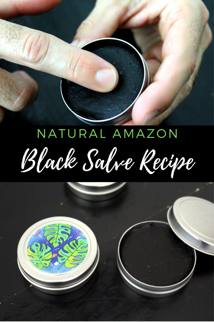 Amazon black drawing salve DIY. This natural holistic Amazon black salve recipe offers an exciting twist off traditional Amish black drawing salves. Crafted using bacuri butter, commonly used as by local natives as a natural remedy for snake and spider bites, this natural ingredient from the Brazilian Amazon Forest plays a key role in drawing out matter from insect bites, stings, boils and even acne.